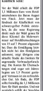 Anzeige in der Sonntags-Post vom 23.01.2010