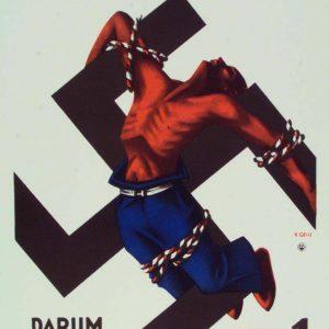 """Plakat zur Reichstagswahl 1932: """"Der Arbeiter im Reich des Hakenkreuzes!"""""""