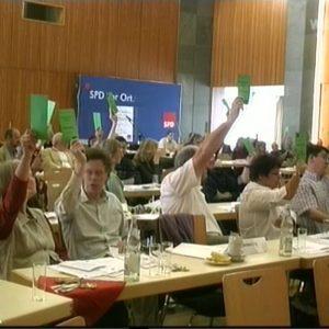 Delegierte auf dem Parteitag der Erftkreis-SPD