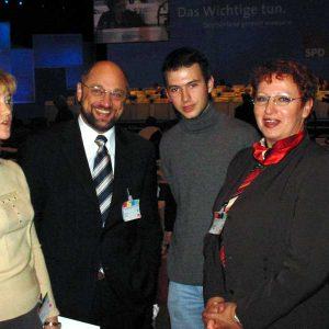 Martin Schulz MdEP (zweiter von links)