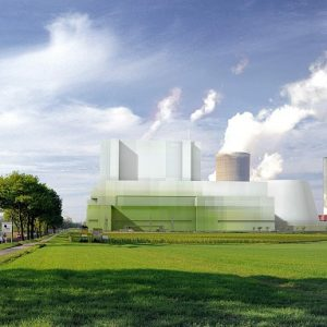 Fotomontage der RWE Power AG für ein BoAplus Kraftwerk