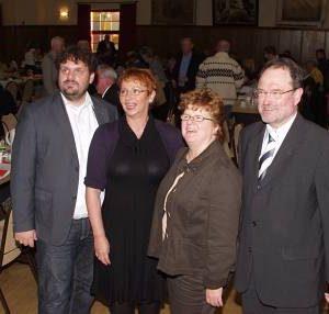 Der Vorstand mit Guido van den Berg, Gabriele Frechen, Ute Meiers und Bernhard Hadel. (Bild: Kurth)