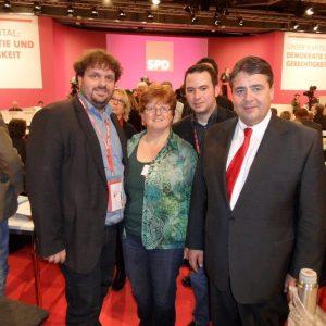 Guido van den Berg, Ute Meiers, Stephan Renner und Sigmar Gabriel