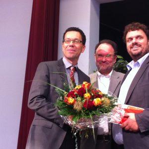 Dierk A. Timm, Bernhard Hadel und Guido van den Berg MdL