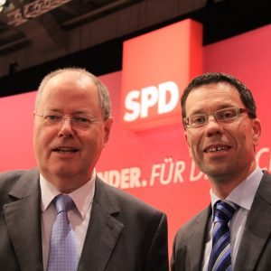 Peer Steinbrück und Dierk Timm