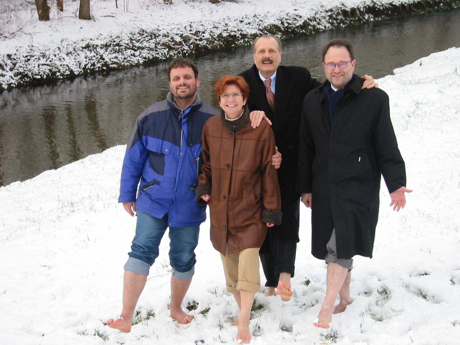 Guido van den Berg, Christa Schütz, Klaus Lennartz und Bernhard Hadel