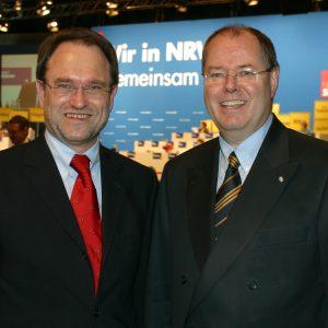 Bernhard Hadel und Peer Steinbrück