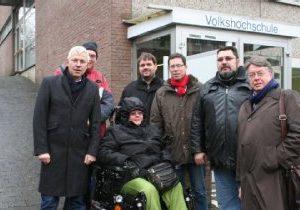 Sarziergang in Bergheim zum Thema Barrierefreiheit mit Norbert Killewald