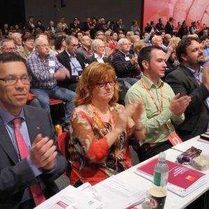Rhein-Erft-SPD beim Parteitag in Augsburg