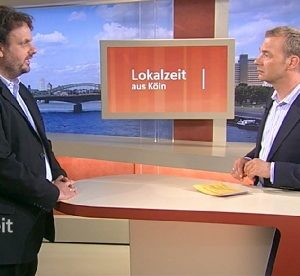 Guido van den Berg MdL und Moderator Henning Quanz