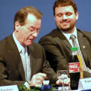 Franz Müntefering und Guido van den Berg (07-03-2004)