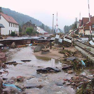 Eindrücke vom Hochwasser vor Ort