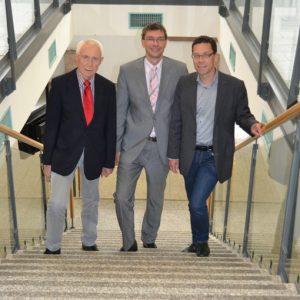 v.l.n.r.: Fraktionsvorsitzender Hans Krings, Landratskandidat Florian Herpel, Bundestagskandidat Dierk Timm