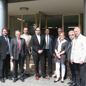 """Besuch des Arbeitskreises """"Chemie"""" der SPD-Landtagsfraktion in Knapsack"""