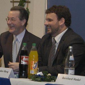 Gabriele Frechen MdB, Franz Müntefering MdB, Guido van den Berg und Bernhard Hadel