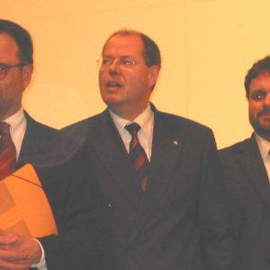 Bernhard Hadel, Peer Steinbrück und Guido van den Berg