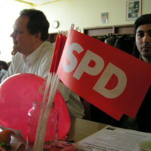 Auf dem Wahlhelfertreffen von Bernhard Hadel