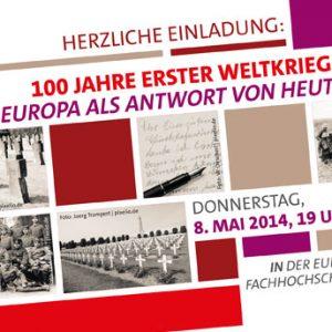 Einladung zur Veranstaltung 100 Jahre erster Weltkrieg