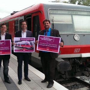 Sascha Solbach, Dierk Timm und Guido van den Berg MdL
