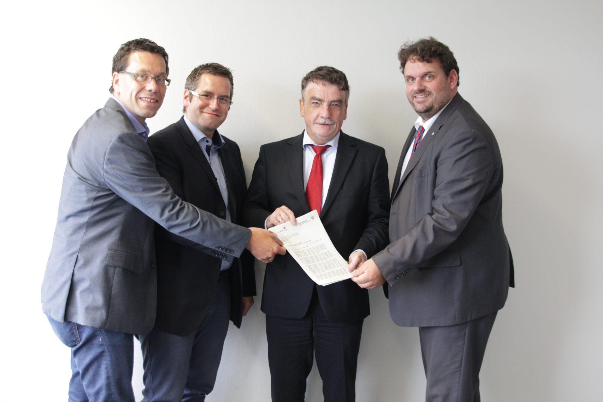 Dierk Timm, Sascha Solbach, Michel Groschek, Guido van den Berg (10.9.2014)