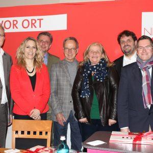 Jochen Ott MdL, Dagmar Andres MdL, Achim  Leirich, Jürgen Becher, Brigitte Dmoch-Schweren MdL, Guido van den Berg MdL und Sascha Solbach
