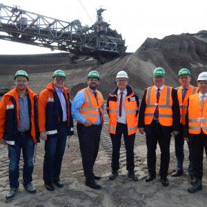 Dr. Kai Pfundheller, Helmut Pellen, Guido van den Berg MdL, Michael Eyll-Vetter, Thomas Baum MdL, Jörg Vieweg MdL und Dr. Lars Kulik
