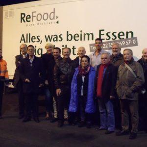 Die SPD-Kreistagsfraktion informiert sich vor Ort bei ReFood in Erftstadt