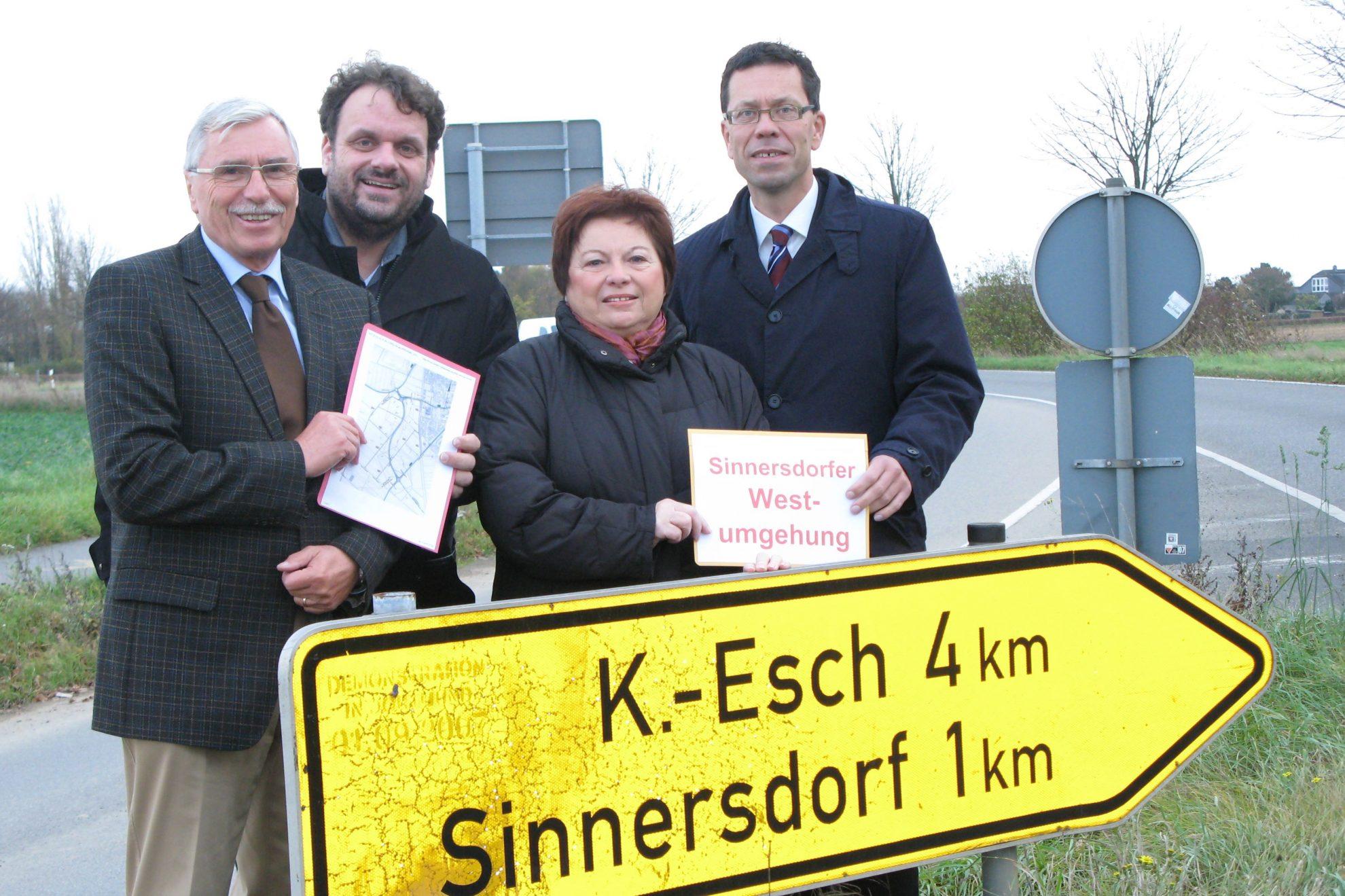 Hans-Rudolf Müller, Guido van den Berg MdL, Marlies Stroschein und Dierk Timm (v.l.n.r.)