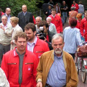 Rotmann Aktion in Brühl mit Passanten