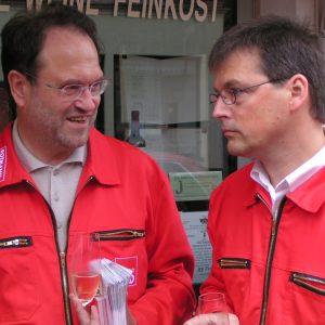 Rotmann Aktion in Brühl mit Bernhard Hadel und Kajo Wasserhövel