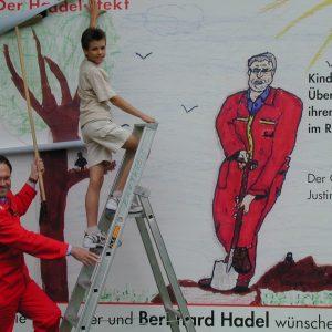 Plakat mit dem Gewinner der Kindermalaktion Rotmann 2004