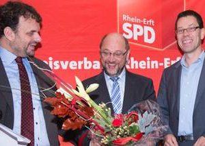 Guido van den Berg MdL, Martin Schulz MdEP und Dierk Timm