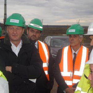 Innenminister Ralf Jäger MdL, Guido van den Berg MdL und Polizeipräsident Dirk Weinspach