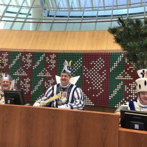 Das Sinnersdorfer Dreigestirn im Düsseldorfer Landtag