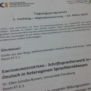 Fachtagung Alphabestisierung im Rhein-Erft-Kreis