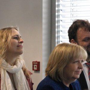 Brigitte Dmoch-Schweren MdL, Dagmar Andres MdL, Hannelore Kraft MdL und Guido van den Berg MdL