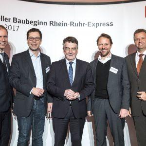Foto vom Offiziellen Baubeginn des RRX
