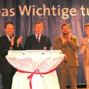 Bernhard Hadel, Wolfgang Clement, Guido van den Berg und Heike Steinhäuser