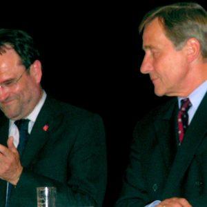 Bernhard Hadel und Wolfgang Clement