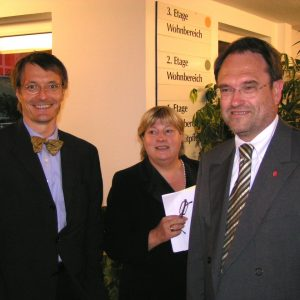 Karl Lauterbach, Helga Hühn-Mengel und Bernhard Hadel