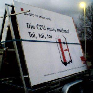 Und die CDU muss noch einmal ...