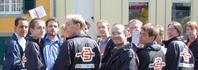 """Das """"red net""""-Team der Erftkreis-SPD im Einsatz"""