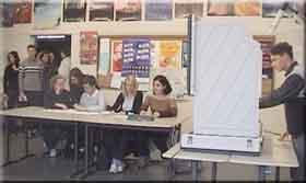 Ein Klassenraum bei der Juniorwahl