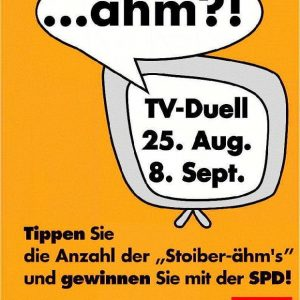 Das Ähm-Plakat der Erftkreis-SPD