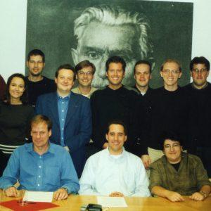 Die Youngsters der NRW-SPD stellen ihr Bildungspapier vor.