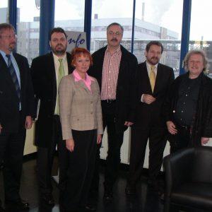 Dr. Reinhard Klingel, Guido van den Berg, Gabriele Frechen, Leo Berg,Dr. Rudolf Schmitz und Horst Lambertz