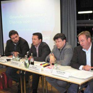 Guido van den Berg, Dr. Sacha Liebermann, Ralf Welter und Rolf Stöckel MdB