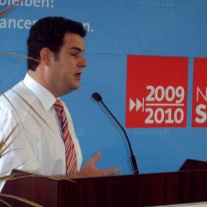 SPD-Generalsekretär Hubertus Heil bei seiner Rede auf dem Konvent