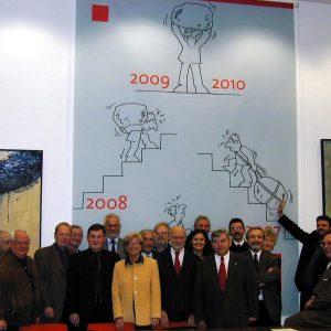 Motivationsposter im SPD-Sitzungssaal im Kreishaus Bergheim