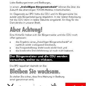 Die SPD in Bedburg setzt sich für die Beteiligung der Bürgerinnen und Bürger ein.